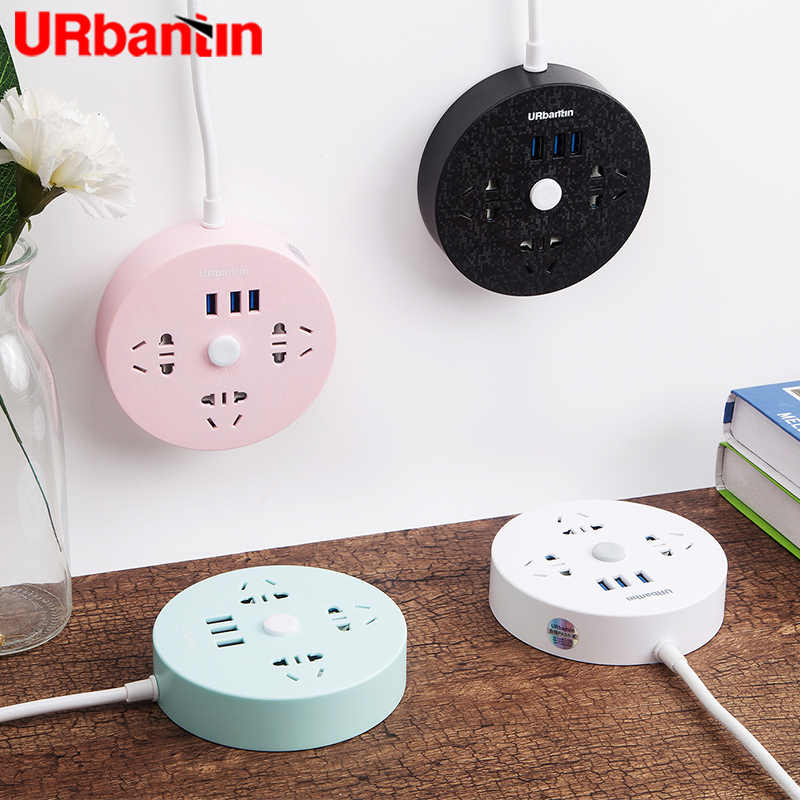 Power Strip 3USB & 3AC Smart Plug Usb Outlet Extension Socket Quick Charge Voor Iphone Xiaomi Samsung Multifunctionele socket Eu Glug