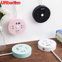 Power Strip 3USB&3AC Smart plug usb outlet Extension Socket Quick charge For iPhone xiaomi samsung Multi-function Socket EU glug