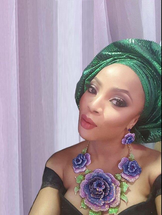 Yulaili nigérian perles collier ensemble de bijoux pour les femmes mariages grand Dubai or couleur bijoux ensembles bijoux éthiopiens