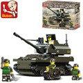Kits de edificio modelo compatible con lego city army tank 3D modelo de construcción bloques Educativos juguetes y pasatiempos para niños