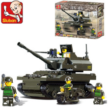 Model building kits compatible with lego city army tank 3D blocks Educational model building toys hobbies for children