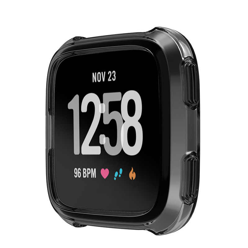 360 градусов Защитная крышка для Fitbit Versa Band Case Мягкий Силиконовый ТПУ Корпус для часов для Fit Bit Versa чехол для часов аксессуары