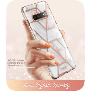 Image 4 - For Samsung Galaxy S10 Case 6.1 inch i Blason Cosmo Full Body Glitter Marble Bumper Cover Case WITHOUT Built in Screen Protector