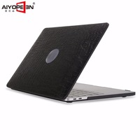 For Macbook Pro 13 15 Touch Bar Case Aiyopeen Pu Leather Middle Hole Can See Logo