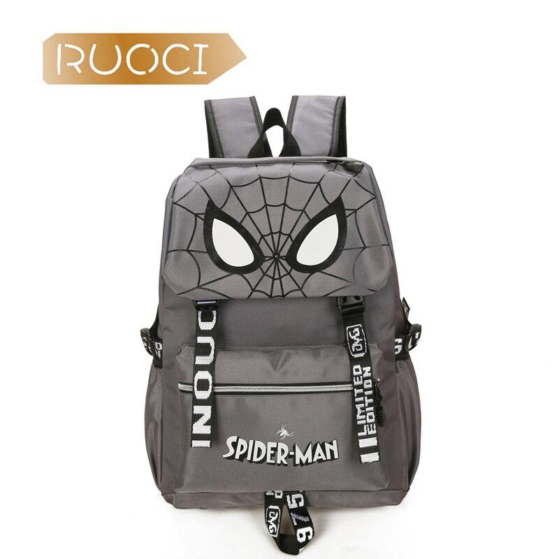 RUOCI Fashion Women Spider Big Backpacks Men College Students Computer Laptop Bag Grils Oxford Travel Bag Gift School mochila