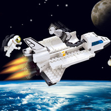 цены sermoido 125PCS Spaceship Shuttle Expedition Buliding Blocks Bricks Educational Toys Compatible With Legoings