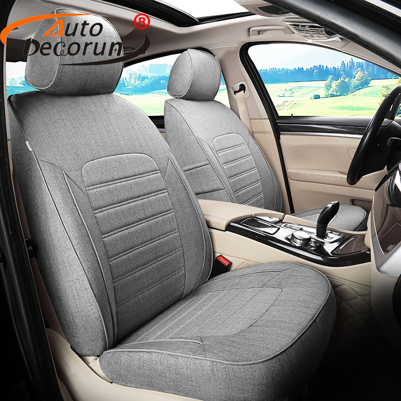 AutoDecorun 17PCS/Set Flax Cover Seat for Audi A7 Accessories Car Seat Covers Custom Fit Seat Cushion Pad Supports Auto Styling