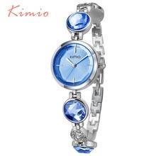 KIMIO Fanshion качество С кристалалми и стразами браслет Кварцевые часы Женские часы 2018 Роскошные Брендовые женские наручные часы для Для женщин