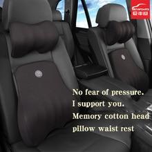 icaroom Car Waist Memory Cotton Protector Seat Back Cushion Pillow Internal Supplies Suit