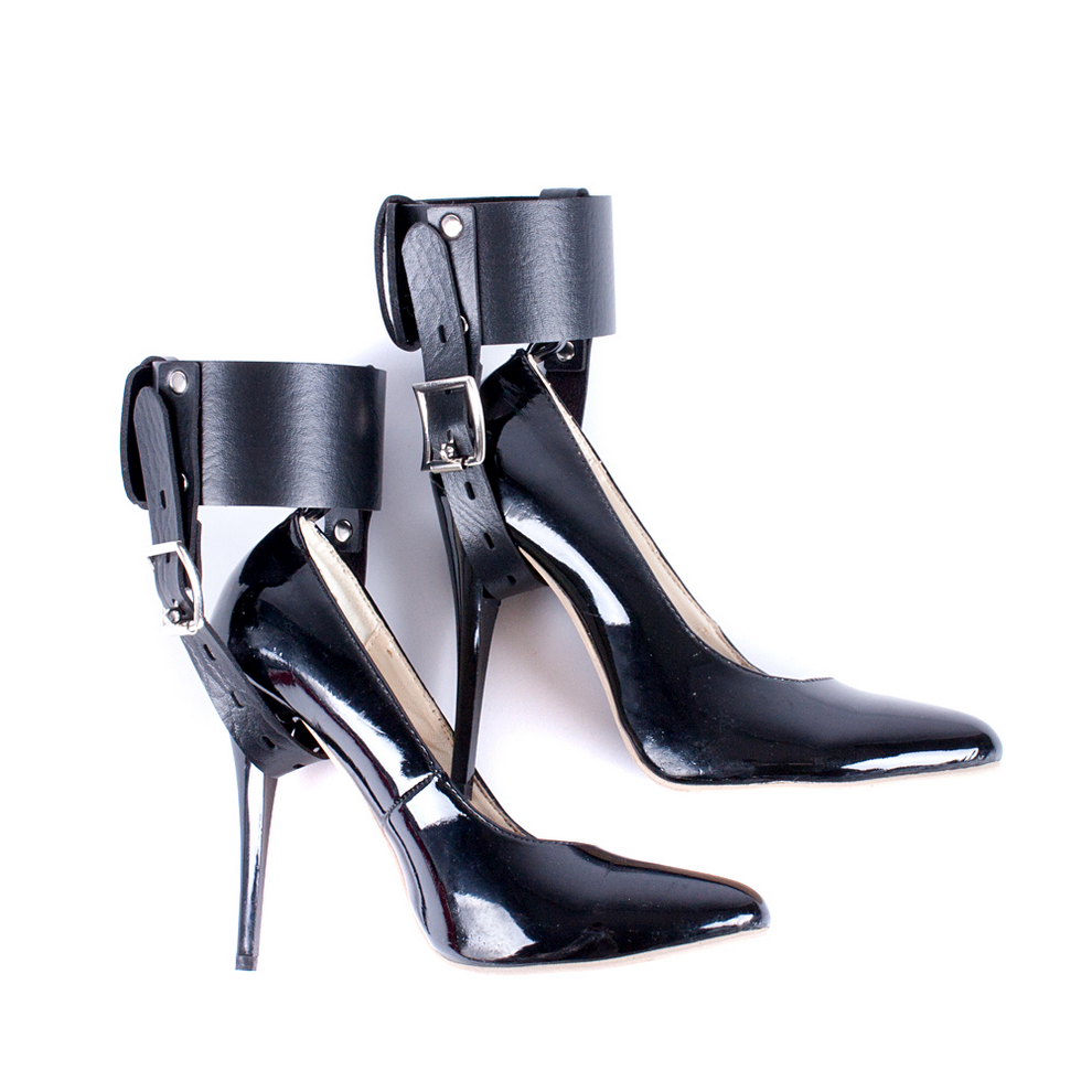 Feet Restraint Sex Toy For High Heeled Shoes Kinky Pu -8476