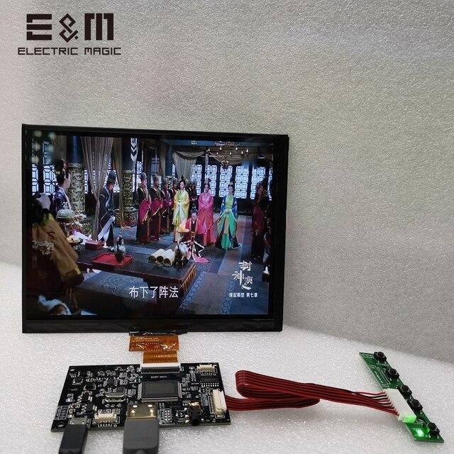 Pantalla táctil capacitiva de 8 pulgadas, 1024x768, módulo de Monitor 4:3, pantalla LCD IPS para LINUX, Windows 7 8 10, Android Raspberry Pi