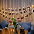 2.2 М СВЕТОДИОДНЫЕ Фонари Цепи Творческий Лампа Клип Вспышки Фото Украшения Стены Лампы День Рождения День святого валентина Партия Освещения Теплый белый
