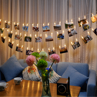 2 2M LED Lights Chains Creative Lamp Clip Flash Photo Wall Decoration Lamp Birthday Valentine S