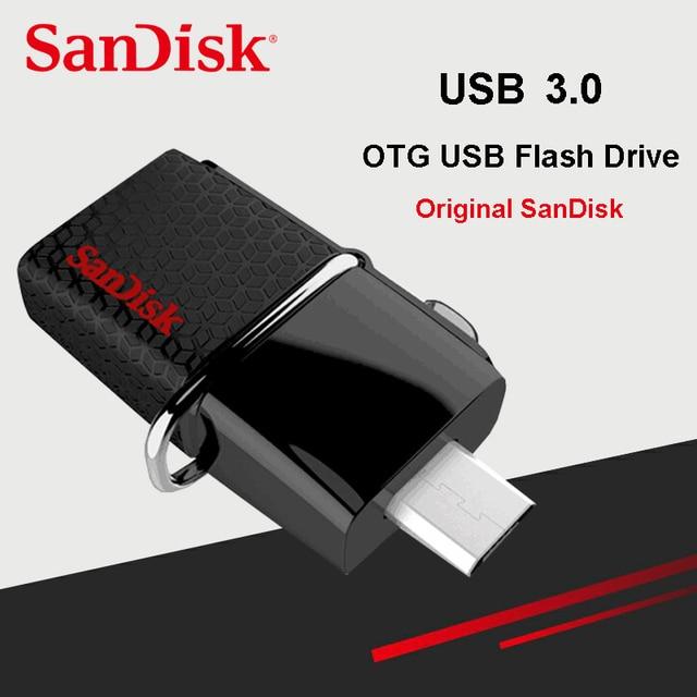 New Sandisk Ultra Dual Otg Usb Flash Drive 32gb 64gb 16gb Sddd2 130m