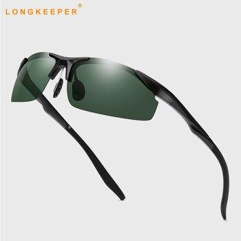 цена на 2019 Sports Polarized Rimless sunglasses TR90 Ultralight Mirror sun glasses for men and women Driving Night Vision Sunglasses uv