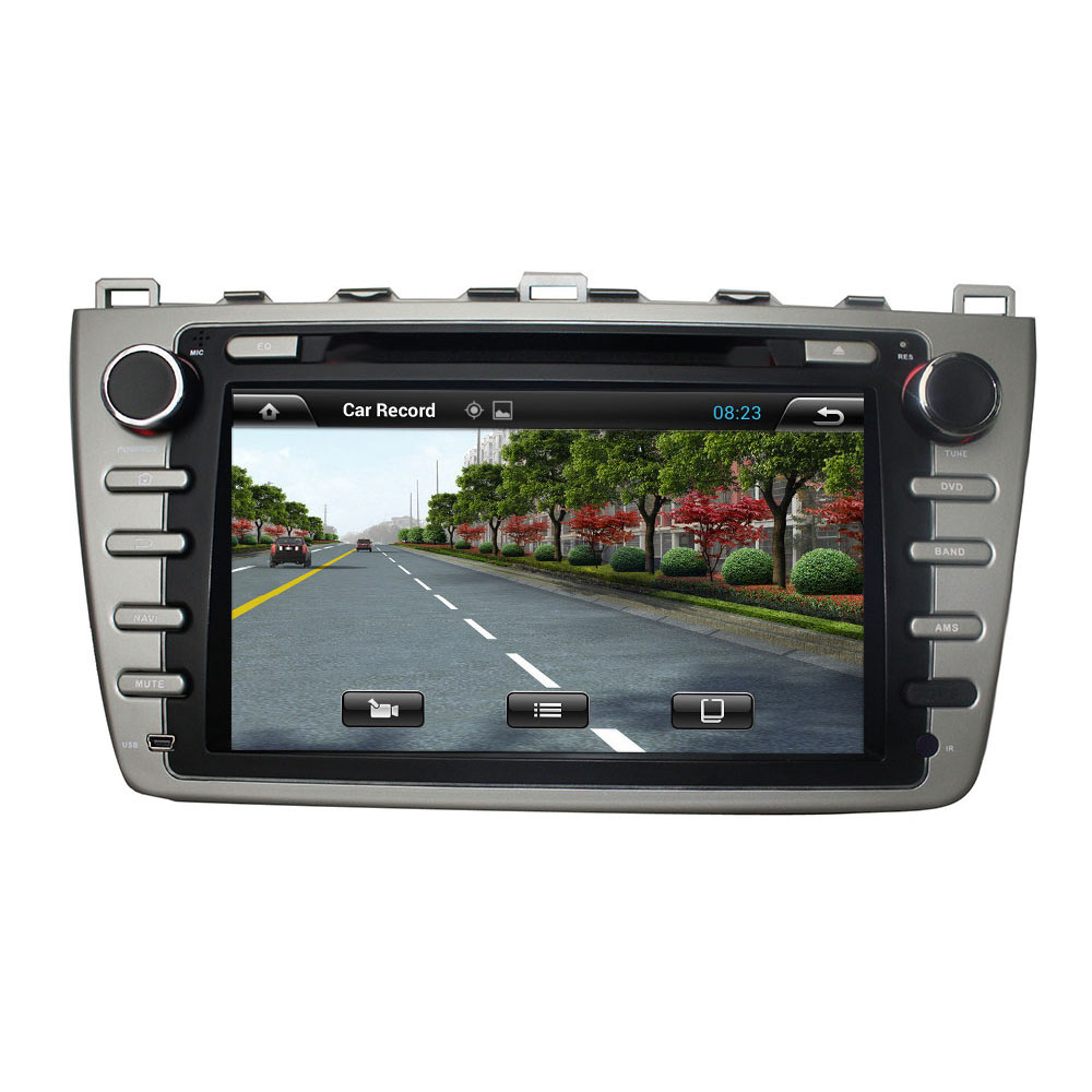 For MAZDA 6 2008 2012 android 7.1.1 HD 1024*600 car dvd player gps navi headunit stereo autoradio 3G wifi dvr black silver color