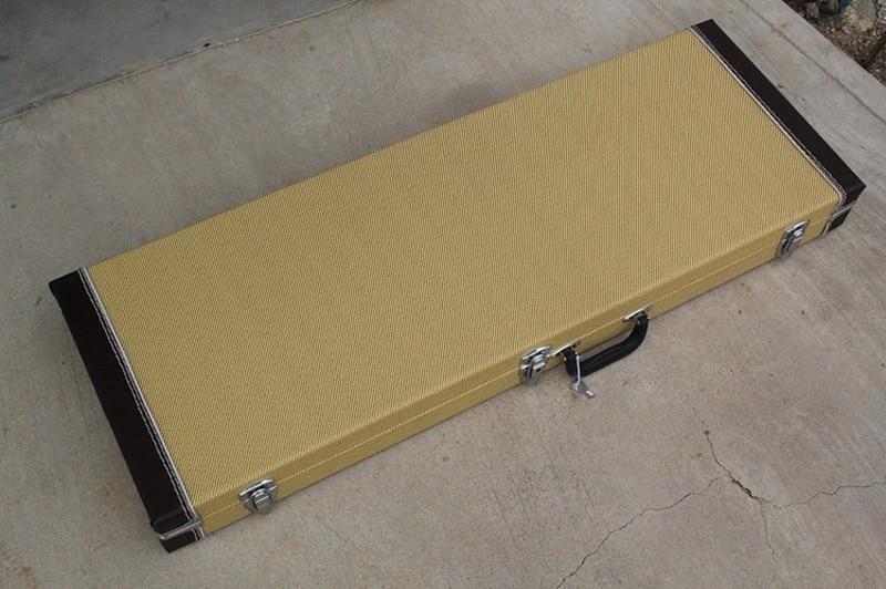 Оптовая продажа с фабрики необычная форма бас гитара прямоугольник Hardcase, цвет и логотип могут быть настроены