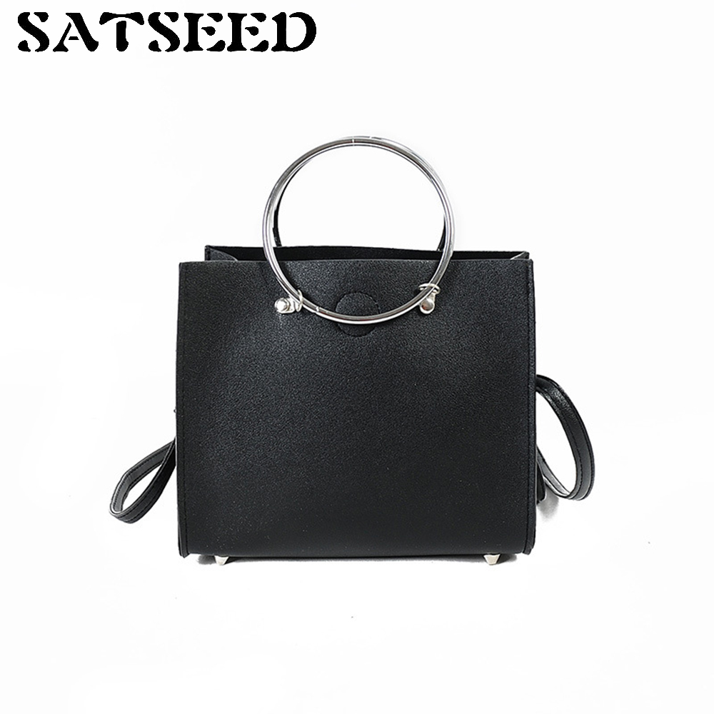 Han Edition Tote New Women Bag Fashionable Crossbody Shoulder Bag Pure Color Shoulder Lash