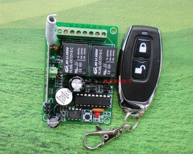 Best Price 315/433MHZ DC 12V 10A 2CH RF Wireless Remote Control swiches System Controller & Receiver best price 5pin cable for outdoor printer