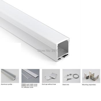 Set Di 10X2 M/Lot Ufficio Di Illuminazione Di Alluminio Profilo Di Luce A Led E 28mm Di Altezza Tipo U In Alluminio Led Alloggiamenti Per La Luce Del Pendente