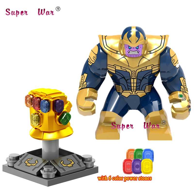 Single Marvel Avengers 3 Infinity War Infinity Gauntlet With Stones Thanos Iron Man Spider-Man building blocks toys for children