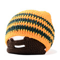 Fancy winter hat cool knitted Hallowmas style crochet masked hat  for boys and girls