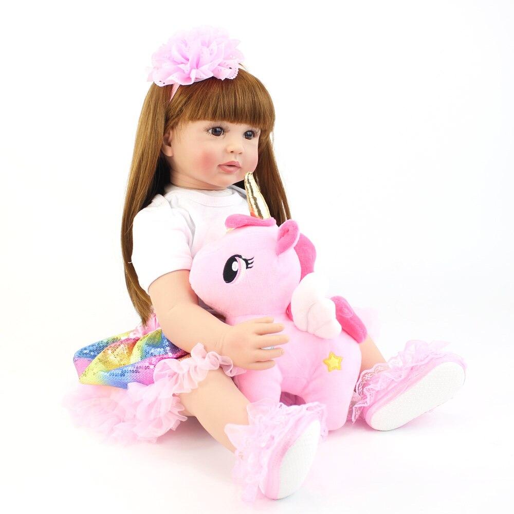 brinquedo lifelike princesa criança bebês com unicórnio