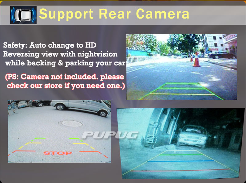 Top 2Din Head Unit Android 5.1.1 GPS radio Car Stereo Auto Radio Audio 1080P Video Player Wifi FM Steering Wheel Control+rear Camera 9
