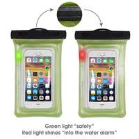 Waterproof Phone Bag Case With Lights Transparent Pouch Beach Dry Universal Mobile Phone Bags For Samsung