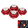 4 unids/set aluminio CAR WHEEL HUB CENTER HUB CAPS CUBIERTA AJUSTE PARA porsche Racing Wheel Center Cap color por defecto de red