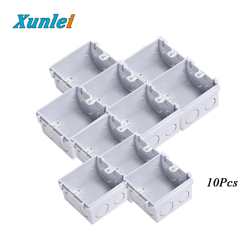 5/10/20Pcs 86mm X 86mm X 50mm Type  Pvc Socket switch  Box Wall mounting back Box