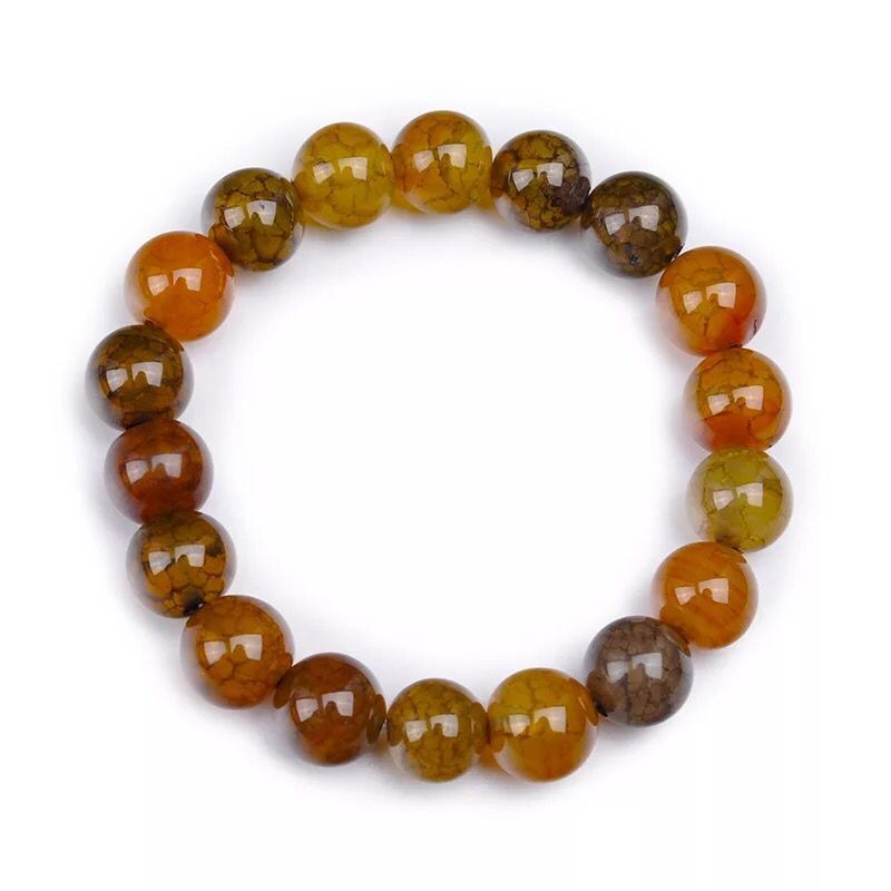 8-10MM φυσικό αχάτη κεχριμπάρι - Κοσμήματα - Φωτογραφία 6