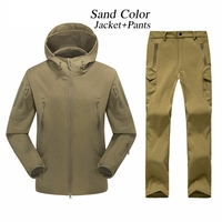 Outdoor Waterproof TAD Gear Tactical Soft Shell Camouflage Set Men Women Sport Hunting Clothes Set Military