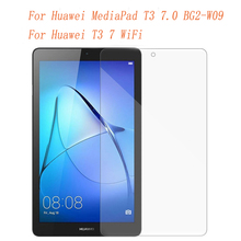 купить Tempered Glass for Huawei MediaPad T3 7.0 BG2-W09 Screen Protector Tempered Glass Film for Huawei T3 7 WiFi Tablet Glass Guard дешево
