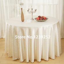 120 INCH Round Table Jacquard Cloth Banquet Polyester Tablecloth For  Wedding Party Festival Decoration(China