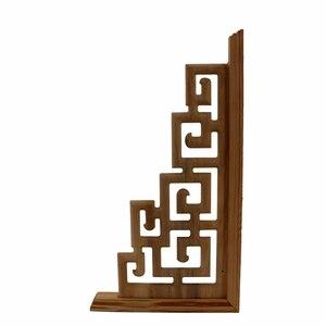 Image 3 - Chinesischen Stil Zu Hause Hochzeit Zubehör Möbel Appliques Holz Carving Ecke Holz Dekor Rahmen Wand Tür Holzschnitzerei Aufkleber