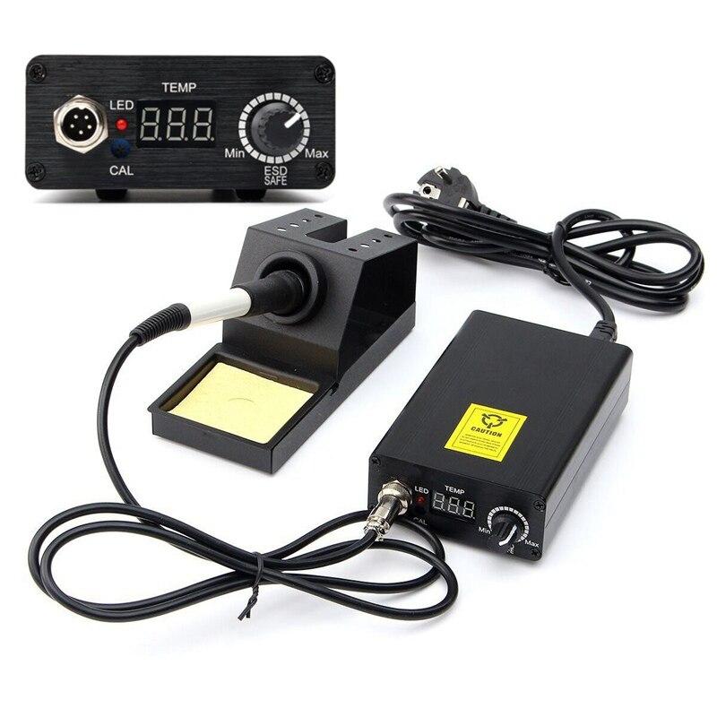 Poste de soudage à température réglable numérique poste de soudage soudure + T12 poignée soudures fer Machine de soudage