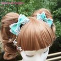Handmade Japanese Harajuku Lolita Headdress Sweet Bow Star Hairpin Headwear 5 Color
