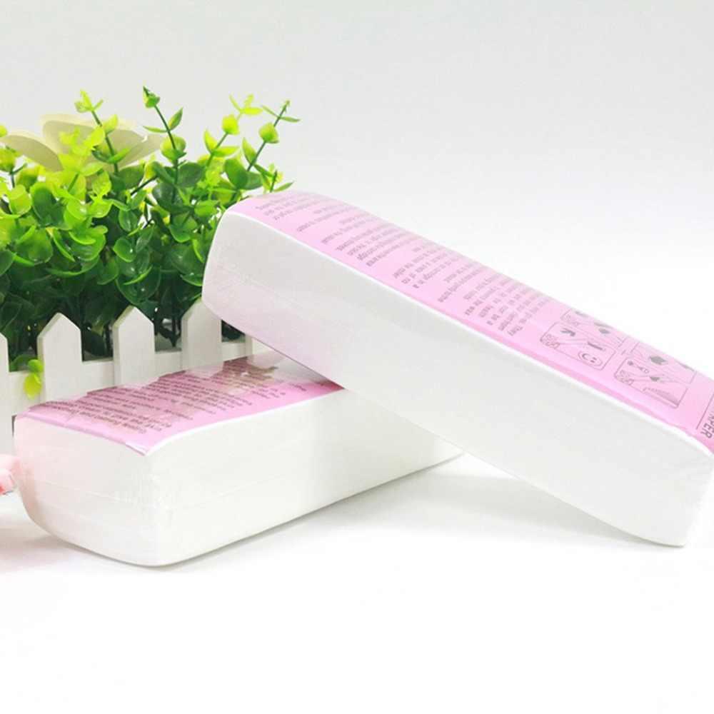 100 adet Epilasyon Balmumu Şeritler Yüz Vücut için Profesyonel Balmumu Şeritler Epilasyon Nonwoven Kağıt Kullanımı Roll-On kartuş Balmumu