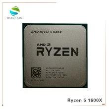 Amd ryzen 5 1600x r5 1600x 3.6 ghz seis núcleo doze thread processador cpu 95 w l3 = 16 m yd160xbcm6iae soquete am4