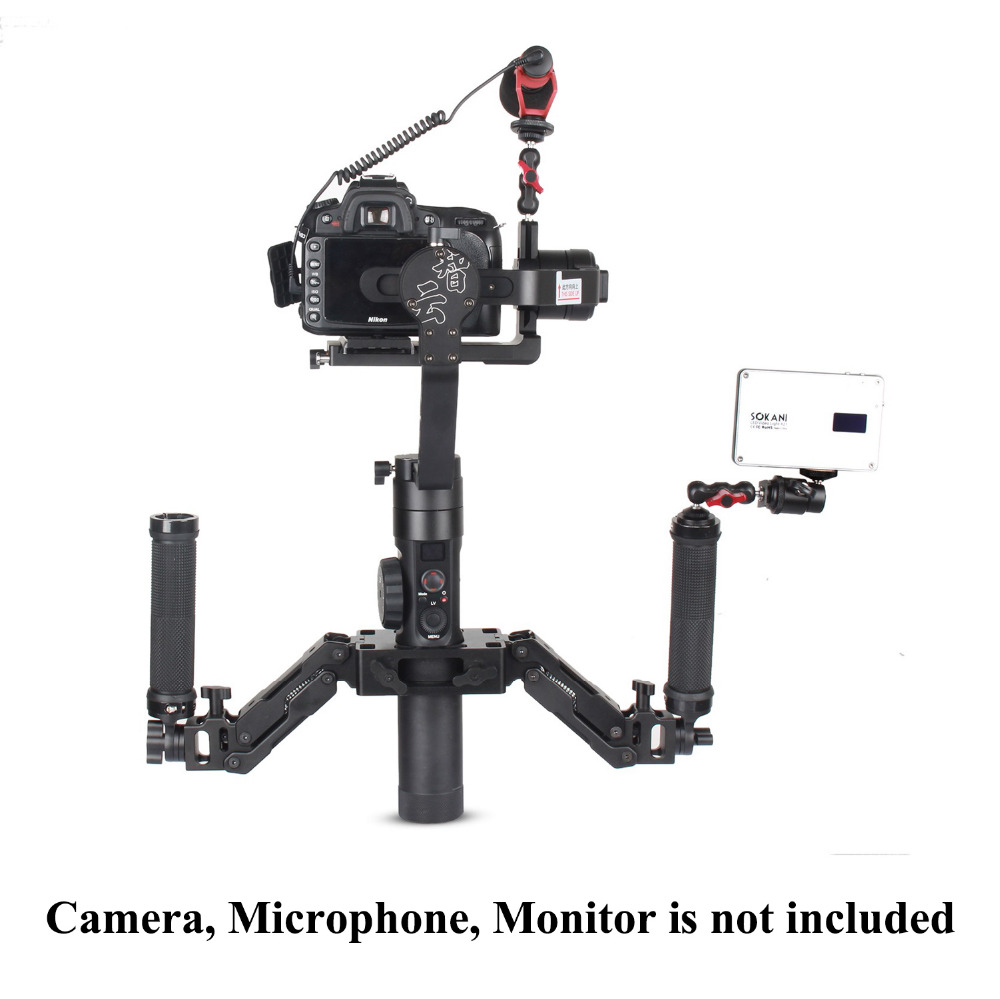 Zhiyun Crane 2 Crane2 3-Axis Handheld Gimbal Stabilizer with Z-Axis 5 Axis Spring Dual Handle Grip Handheld Handlebar for DSLR beholder ds1 3 axis brushless handheld gimbal stabilizer 32 bit controller with dual imu sensors d2 handle grip cable for dslrs