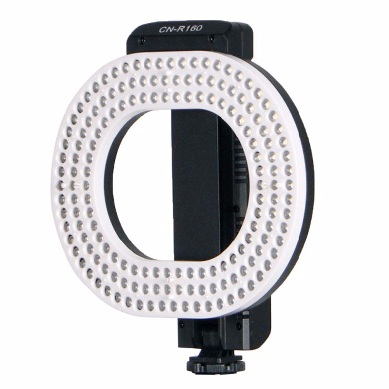 NanGuang CN-R160 LED Video Light 5600K/3200K Independent dimming ring LED light for Cano ...