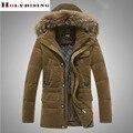 Мужчины Куртка Регулируемый 2016 Зимняя Мода Теплый Снег Пальто Случайный Толстые Куртки 55% Белая утка вниз