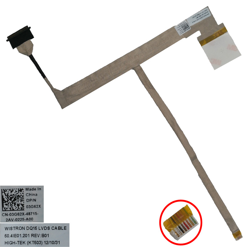 New LCD LED Video Flex Cable for DELL Inspiron 15R N5110 M5110 3550 V3550 Series PN:50.4IE01.201 50.4IE01.001. Replacement cable soncci lcd video flex cable for hp probook 4330s 4535s laptop screen display cable