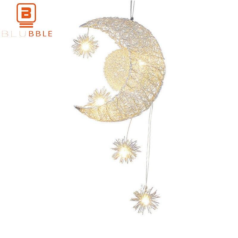 Pendant Lights Blubble Curved Moon Pendant Lights Originality Aluminum Star Bird Nest Modern Pendant Lamp Ac 90-260v Balcony Bedroom Hanglamp Agreeable To Taste Lights & Lighting