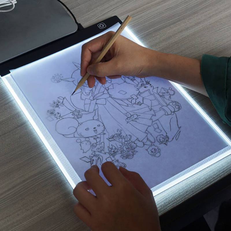 USB Plug LED Copy Table DIY Picture Luminous Penetrating Table For Kids Gifts Light Adjusting A4 Size Painting Board
