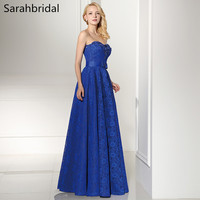 Charming Ever Pretty Royal Blue Long Prom Dresses 2017 With A Line Zipper Floor Length And