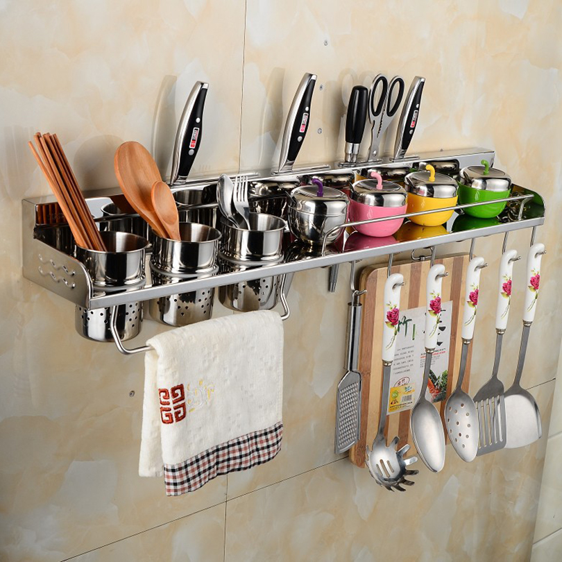 ФОТО Kitchen Shelves Stainless Steel kitchen Holder & Storage kitchen Rack