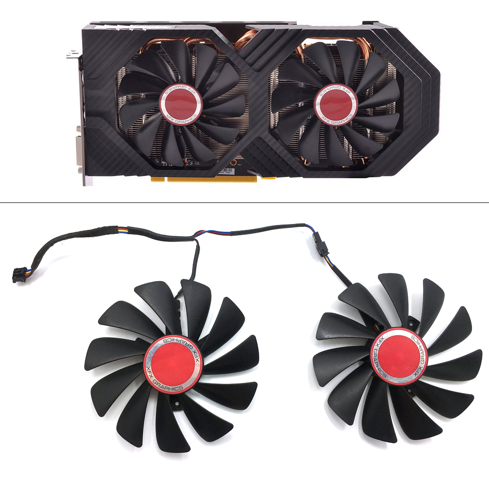 Original 95MM CF1010U12S DIY FDC10U12S9 C PC Cooler Fan Replace For XFX AMD Radeon RX580 RX590 GPU Graphics Card Cooling Fan-in Laptop Cooling Pads from Computer & Office