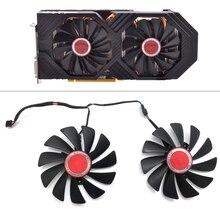 Orijinal 95MM CF1010U12S DIY FDC10U12S9 C PC soğutucu Fan için değiştirin XFX AMD Radeon RX580 RX590 GPU grafik kartı soğutma fan